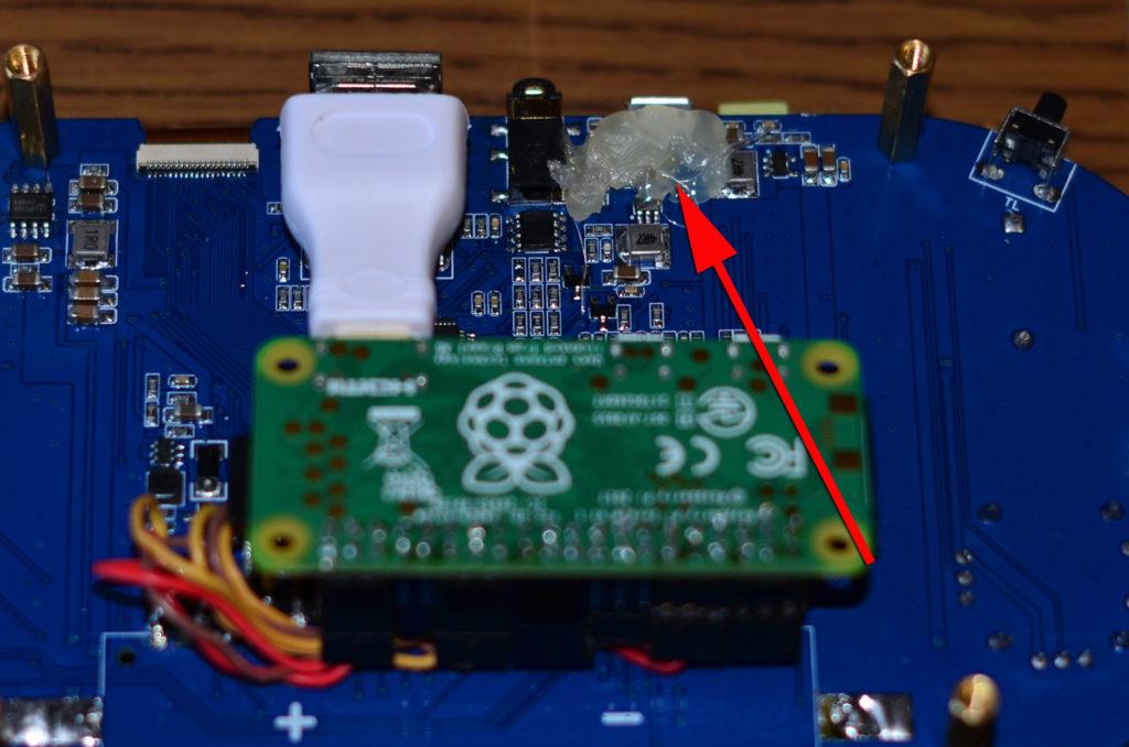 USB Buchse vom Waveshare Game HAT verstärken